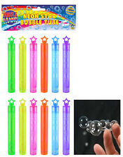 12x MINI BUBBLE WANDS Magic Childrens Loot Party Bag Filler Touchable Toy Baby