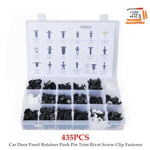 435PCS/SET Car Door Panel Retainer Push Pin Trim Rivet Screw Clip Fastener Tool
