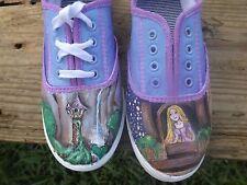 disney tangled Rapunzel princess hand painted womens shoe size 10