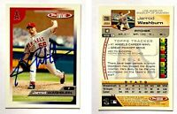 Jarrod Washburn Signed 2005 Topps Total #281 Card Los Angeles Angels Autograph