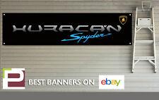 Lamborghini Huracan Spyder Banner for Workshop, Garage, Man Cave