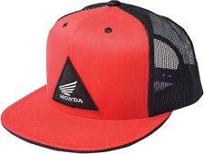 FACTORY EFFEX RED TRI TRUCKER HONDA SNAPBACK HAT CAP LID SNAP BACK ADJUSTABLE