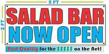 SALAD BAR NOW OPEN BANNER Sign NEW Larger Size Best Quality for the $