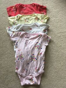 Next Baby Girl Floral Vests Bodysuits 9-12 Months