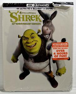 SHREK 20th Anniversary Edition (4K Ultra HD, Blu-Ray, Digital, Steelbook) NEW