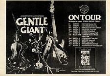 (Sds)9/3/1974Pg25 Album & Tour Advert 7x10 Gentle Giant in A Glass House (string