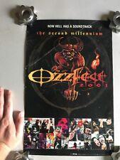 Ozzfest 2001 The Second Millennium Promo Poster - Used - Rare- Slight Damage