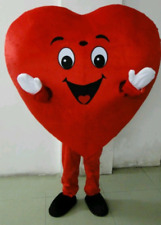 Red Heart Mascot Costume Birthday Party Event Hospital Blood Adult Size Love
