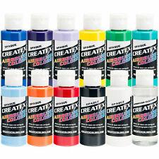 Createx 12 Color Opaque Airbrush Paint Set, 2 oz. Bottles (11 colors + cleaner)