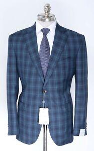 NWT JACK VICTOR Conway Blue Loro Piana Capolavoro Wool Sport Coat 40 R (EU 50)