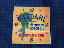 "*NEW* 15"" SQUARE BARDAHL OUTBOARD BOAT MOTOR OIL GAS GLASS FACE FOR PAM CLOCK"