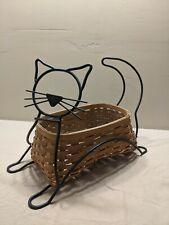 New ListingLongaberger Wrought Iron Black Cat 2009 Basket Set with protector. No Reserve.