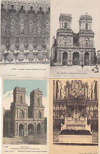 Lot 4 cartes postales anciennes AUCH cathédrale 3