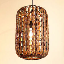 Rattan Cage Ceiling Pendant Lamp Lightings Asian Restaurant Chandelier Fixtures