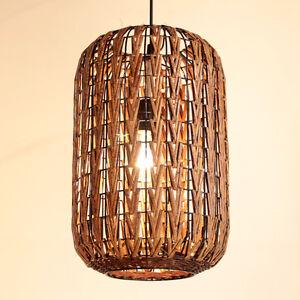 Rattan Cage Ceiling Pendant Lamp Lightings Asian Restaurant Chandelier Fixtures