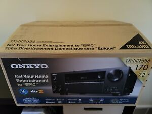 Onkyo TX-NR656 7.2 Channel Network AV Receiver, 4K Ultra HD Bluetooth & WiFi