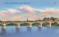 Postcard Bridge Over Susquehanna River Pittston Pennsylvania