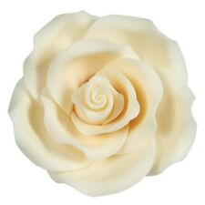 Culpitt IVORY WHITE 63mm XL Edible Sugar Soft Roses Wedding Cup Cake Decoration