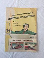 1955 Oldsmobile Cartoon Sales Brochure Let Oldsmobile Power Steering Do The Work