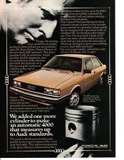 1980 AUDI 4000 ~  ORIGINAL PRINT AD