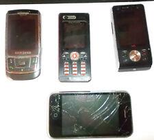 4 Defekte Handys-IPhone,2xSony Ericsson,Samsung-für Bastler