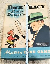 Vintage 1941 Dick Tracy Super Mystery Detective Whitman Publishing card game