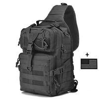 """15""""Tactical Sling Bag Military Rover Shoulder Sling Backpack One Strap Daypacks"""