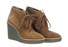 Aquatalia Valeriee Suede Lace-Up Wedge Booties Boots Fashion Boots Size 5.5