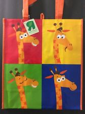 Toys R Us Color Block Geoffrey Reusable Shopping Bag Tote Gift Bag