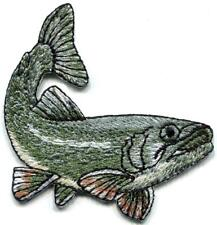 Bass fish fishing embroidered applique iron-on patch S-1502