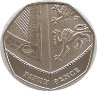 2015 Royal Mint Royal Shield of Arms BU 50p Fifty Pence Coin - Fourth Portrait