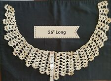 A4 Antique Lace Handmade Collar Knit Trim Vintage Design Sewing Costume Clothes