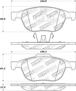StopTech For Ford, Mazda, Volvoc Disc Brake Pad Set-FWD Front - 308.10440