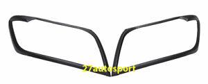 Matte black Cover Head light Trims Fit Toyota Hilux Vigo Champ Pickup 2011-2015