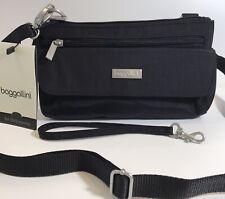 baggallini Crossbody Mini Bag Black Nylon Organizer Clutch Plaza Mcm194b0001