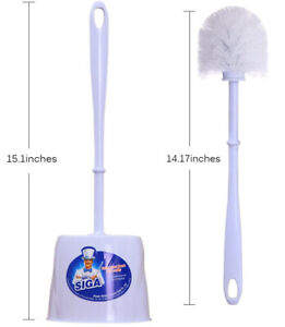 (2 Pack) Commercial 14.5 Inch Toilet Bowl Brush Cleaner Replacement Set