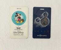 Walt Disney Travel Co. Wheel The Magic Begins & 20 Year Vintage Luggage Tag