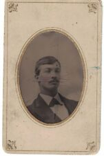 Tintype Photo-Young Man in his Early 20s -Named Family from Ohio Dated Feb 1873
