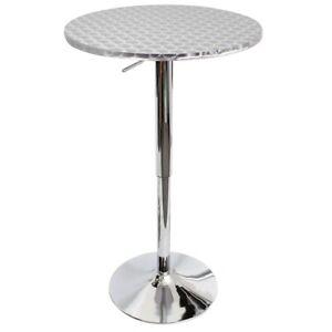 LumiSource Bistro Bar Table, Silver - BT-TLBISTRO23RN
