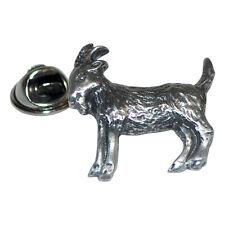 GOAT British Pewter Pin Badge Tie Pin / Lapel Badge XDHLP1088