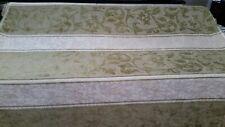 Green/beige/ivory Scroll stripe chenille upholstery/drapery fabric 20yds BTY