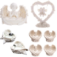 Tealight Holder Cherubs Ornaments Heart Decorative Love Gifts Home Collectable