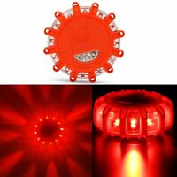 LED Road Flares Emergency Roadside Safety Disc Marine Flashing Light Beacon Car