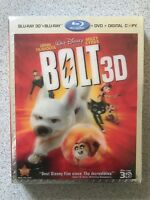 Bolt (Blu-ray/DVD, 2011, 4-Disc Set, Includes Digital Copy 3D) with Lenticular s