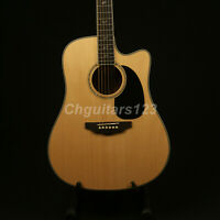 Handmade General Cutway Style Electric Acoustic Guitar 3A Grade  Abalone Inlay