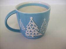 Starbucks Christmas Holiday Tree Penguin Mug 2007 Blue/White Retired no box