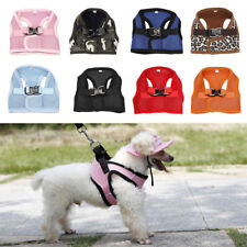LC_ HK- petit animal de compagnie chiot chien maille douce marche collier sangle