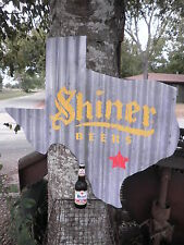 """SHINER TEXAS TIN ROOF BOCK  BEER  32""""X 30"""" SILHOUETTE  SIGN ALE BREWERY ALCOHOL"""