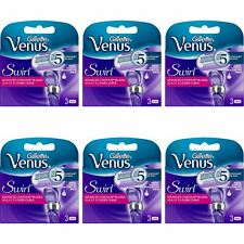 18 hojas de afeitar de Gillette Venus Remolino mujeres 5 hojas de contorno moistureglide Suero