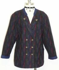 BLUE WOOL Women Austria Sport Tweed JACKET Coat 14 L